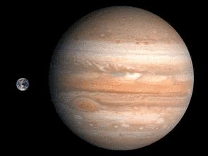 Größenvergleich Erde-Jupiter | Quelle: NASA