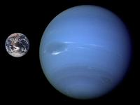 Größenvergleich Erde-Neptun | Quelle: Nasa