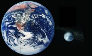 Größenvergleich Erde-Pluto | Quelle: Nasa