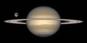 Größenvergleich Erde-Saturn | Quelle: Nasa