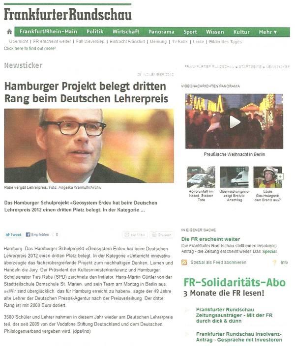 Frankfurter Rundschau 28.11.2012