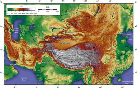 Gebirge-Zentralasien