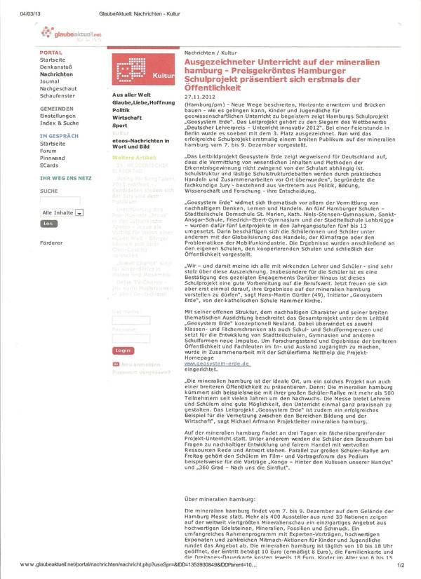Glaube Aktuell 27.11.2012