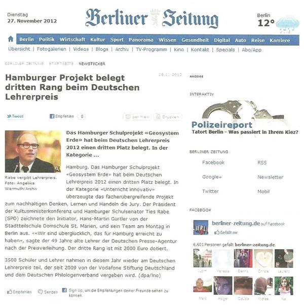 Berliner Zeitung 27.11.2012