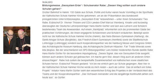 Katholischer Schulverband Hamburg 10.04.2013