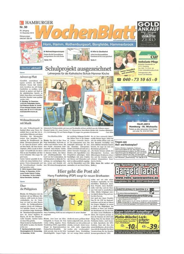 Hamburger Wochenblatt 2.12.2012