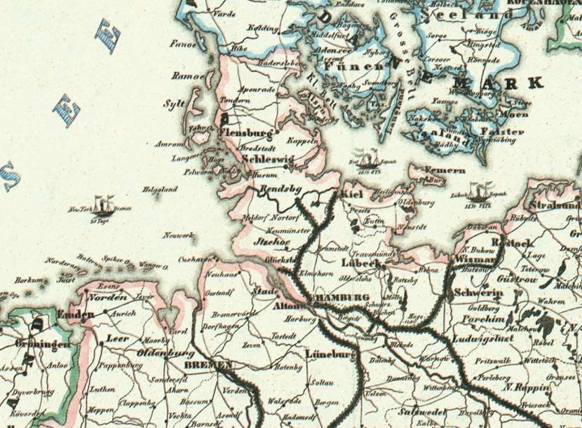 Bahnnetz von 1849
