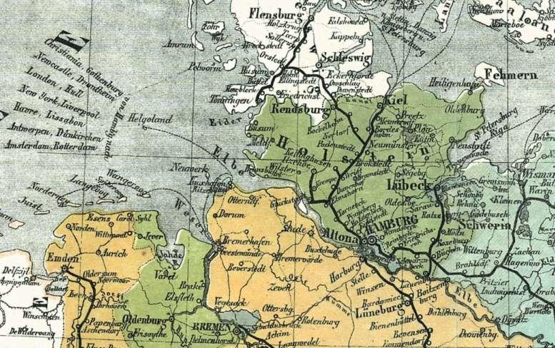 Bahnnetz von 1861