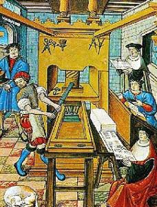 Buchdruckpresse