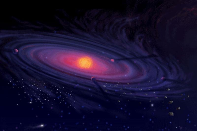 Geburt unseres Sonnensystems Quelle: NASA