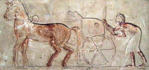 Relief von Amarna, Ägypten, ca. 1345–1335 v. Chr., Metropolitan Museum of Art, New York Quelle: Wilhelmy (Eigenes Werk) CC BY-SA 3.0