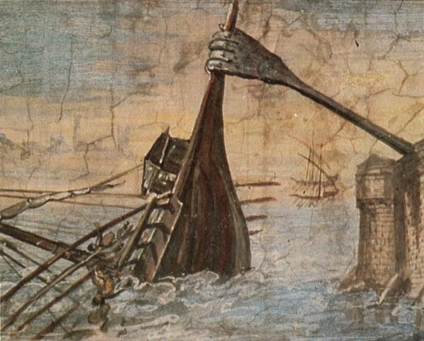 Ein Gemälde der Kralle von Archimedes