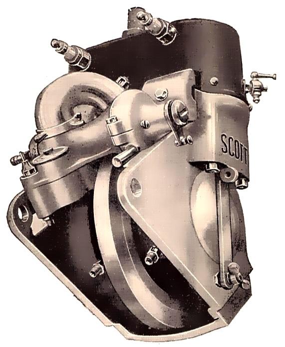 Scott-Zweitaktmotor von 1912
