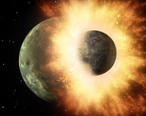 Theia trifft Erde Quelle: NASA