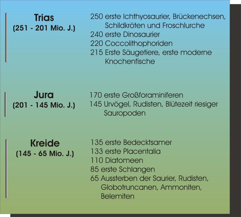 Mesozoikum Bio